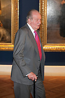 King Juan Carlos I of Spain attends a painting exhibition at Palacio Real in Madrid, Spain. November 03, 2014. (ALTERPHOTOS/Victor Blanco) /NortePhoto.com