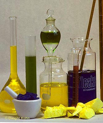 CX03-003a  Chemistry apparatus - chemicals and glassware for chemistry lab