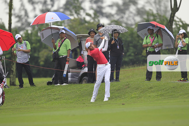 Phachara Khongwatmai (Asia) on the 8th fairway during the Friday Foursomes of the Eurasia Cup at Glenmarie Golf and Country Club on the 12th January 2018.<br /> Picture:  Thos Caffrey / www.golffile.ie