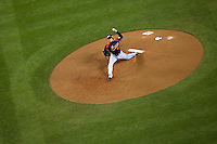 23 March 2009: #47 Toshiya Sugiuchi of Japan pitches against Korea  during the 2009 World Baseball Classic final game at Dodger Stadium in Los Angeles, California, USA. Japan defeated Korea 5-3