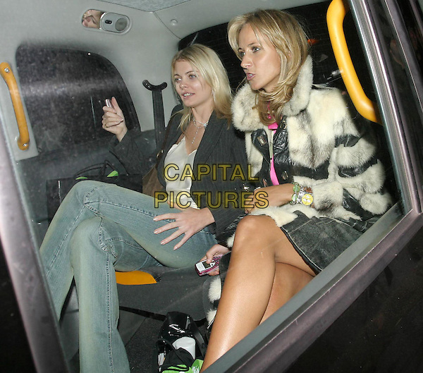JEMMA KIDD & LADY VICTORIA HERVEY.Tatler Little Black Book party at Tramp nightclub.car, cab, taxi.www.capitalpictures.com.sales@capitalpictures.com.© Capital Pictures.
