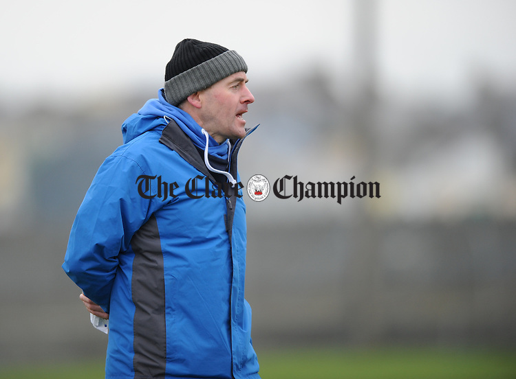 Clare manager John Burke on the sideline against Kildare during their national League game at Miltown Malbay. Photograph by John Kelly.
