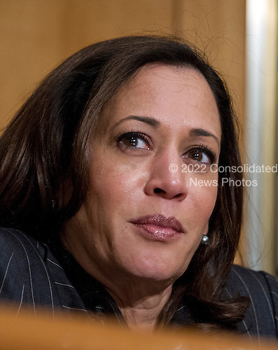 United States Senator Kamama D. Harris (Democrat of California) at the US Senate Committee on Homeland Security and Governmental Affairs hearing on the nomination of General John F. Kelly, USMC (Retired), to be Secretary, US Department of Homeland Security on Capitol Hill in Washington, DC on Tuesday, January 10, 2017.<br /> Credit: Ron Sachs / CNP