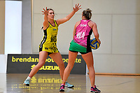 Central Manawa&rsquo;s Jessica Fagan-Pease in action during the Beko Netball League - Central Manawa v Southern Blast at ASB Sports Centre, Wellington, New Zealand on Sunday 12 May 2019. <br /> Photo by Masanori Udagawa. <br /> www.photowellington.photoshelter.com