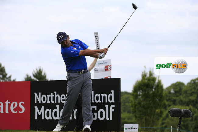 Ricardo Gonzalez (ARG) tees off the 9th tee during Sunday's Final Round of the 2014 Irish Open held at Fota Island Resort, Cork, Ireland. 22nd June 2014.<br /> Picture: Eoin Clarke www.golffile.ie