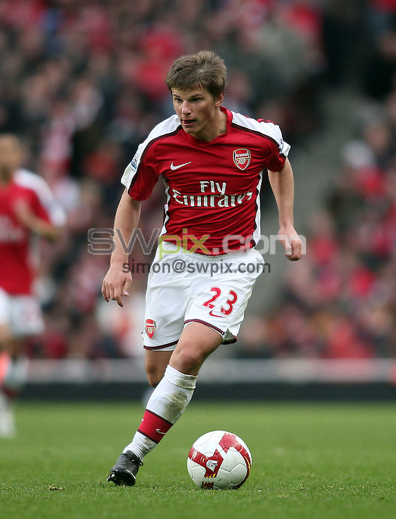 PICTURE BY JEREMY RATA/SWPIX.COM. Barclays Premier League 2008/9 - Arsenal v Blackburn Rovers, Emirates Stadium, London, England. 14th March 2009. Arsenal's Andrey Arshavin..Copyright - Simon Wilkinson - 07811267706