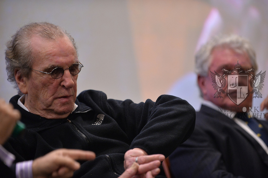 CORAL GABLES, FL - NOVEMBER 20: Danny Aiello and Tom Berenger attend Q&A session after the premiere screening Of 'Reach Me' Hosted by University Of Miami inside the BankUnited Center Fieldhouse at University of Miami on Thursday November 20, 2014 in Coral Gables, Florida. (Photo by Johnny Louis/jlnphotography.com)