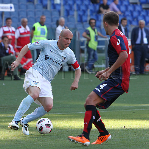 14.05.2011 Seria A Tim - stadio olimpico in Rome, Italy - Lazio versus Genoa 4-2. Picture shows Tommaso Rocchi in Action