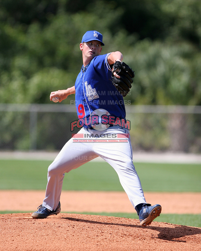 Los Angeles Dodgers minor leaguer Josh Wall during Spring Training at Dodgertown on March 22, 2007 in Vero Beach, Florida.  (Mike Janes/Four Seam Images)