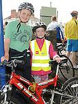 Conor and Ellen O'Brien who took part in the Ardee Cycle club Mystery cycle tour. Photo: Colin Bell/pressphotos.ie