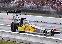 Jun 4, 2016; Epping , NH, USA; NHRA top fuel driver Shawn Langdon during qualifying for the New England Nationals at New England Dragway. Mandatory Credit: Mark J. Rebilas-USA TODAY Sports