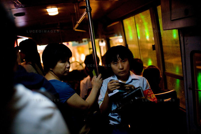 A city bus operator in Beijing, China on Sunday, August 10, 2008.  Kevin German