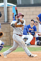 Chris Betts (26) of Long Beach Wilson High School, and a potential first round draft pick in the 2015 draft, bats during a game against Gahr High School at Gahr H.S. on March 18, 2015 in Cerritos, California. (Larry Goren/Four Seam Images)