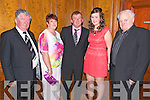 The Keel GAA club cerebrated 125 years with a party in the Muckross Park Hotel, Killarney last saturday night. Pictured L-R Dan Prendergast, Collette Ashe, Martin Ashe, Zeta Ashe and Tim Foley (all from Keel).