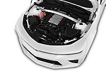 Car Stock 2016 Chevrolet Camaro 2SS 2 Door Convertible Engine  high angle detail view
