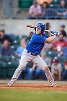 Midland RockHounds designated hitter Brett Vertigan (17) at bat during a game against the Arkansas Travelers on May 25, 2017 at Dickey-Stephens Park in Little Rock, Arkansas.  Midland defeated Arkansas 8-1.  (Mike Janes/Four Seam Images)
