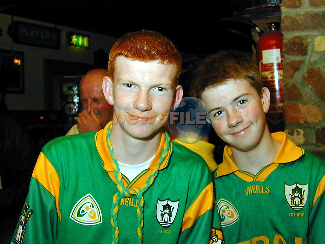 Colin and Richard Folan, Stamullen celebrating in The Huntsman on Sunday..Picture Paul Mohan Newsfile