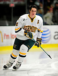 12 December 2009: University of Vermont Catamount defenseman Patrick Cullity, a Senior from Tewsbury, MA, skates around his end prior to a game against the St. Lawrence University Saints at Gutterson Fieldhouse in Burlington, Vermont. The Catamounts shut out their former ECAC rival Saints 3-0. Mandatory Credit: Ed Wolfstein Photo