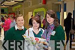 Killorglin Community College students pictured at the IT Open Day on Friday were l-r: Edel O'Shea, Abbie Miller and Cherriden O'Sullivan.