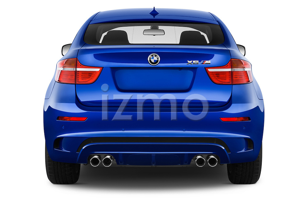Straight rear view of a 2013 Bmw X6 M 5 Door Suv 4WD