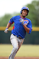 Chicago Cubs outfielder Kevonte Mitchell (30) during an Instructional League intersquad game on October 9, 2014 at Cubs Park Complex in Mesa, Arizona.  (Mike Janes/Four Seam Images)