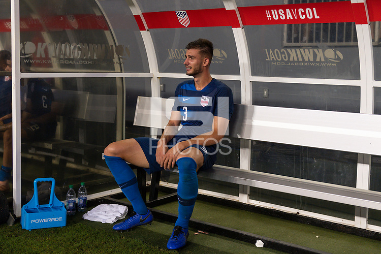 Tampa, FL - Thursday, October 11, 2018: Matt Miazga during a USMNT match against Colombia.  Colombia defeated the USMNT 4-2.