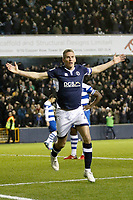 GOAL - Steve Morison of Millwall scores the first goal during the Sky Bet Championship match between Millwall and Queens Park Rangers at The Den, London, England on 29 December 2017. Photo by Carlton Myrie / PRiME Media Images.