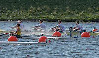 Rotterdam. Netherlands.  GBR JM4X. James Mawby, Tom Digby, Josh Armstrong and Nick Plaut,  find some rough water of the start - Junior SEMI FINAL A/B, at the  2016 JWRC, U23 and Non Olympic Regatta. {WRCH2016}  at the Willem-Alexander Baan.   Saturday  27/08/2016 <br /> <br /> [Mandatory Credit; Peter SPURRIER/Intersport Images]