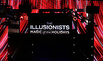 """Stage and set during a press preview of """"The Illusionists - Magic of the Holidays"""" at the Neil Simon Theatre on December 3, 2019 in New York City."""