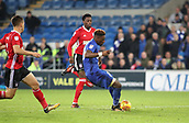 31st October 2017, Cardiff City Stadium, Cardiff, Wales; EFL Championship football, Cardiff City versus Ipswich Town; Omar Bogle of Cardiff City places the ball into the bottom corner scoring Cardiff City's 2nd goal in the 46th minute making it 2-0