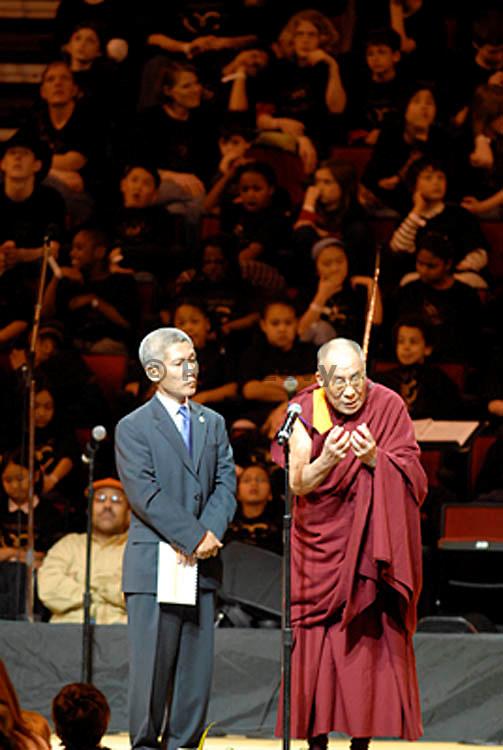 Dalai Lama, Key Arena, Seattle, WA  April, 2008