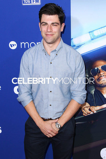 "HOLLYWOOD, LOS ANGELES, CA, USA - AUGUST 07: Max Greenfield at the Los Angeles Premiere Of 20th Century Fox's ""Let's Be Cops"" held at ArcLight Cinemas Cinerama Dome on August 7, 2014 in Hollywood, Los Angeles, California, United States. (Photo by Xavier Collin/Celebrity Monitor)"