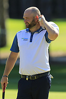 Andy Sullivan (ENG) on the 9th green during Thursday's Round 1 of the 2018 Turkish Airlines Open hosted by Regnum Carya Golf &amp; Spa Resort, Antalya, Turkey. 1st November 2018.<br /> Picture: Eoin Clarke | Golffile<br /> <br /> <br /> All photos usage must carry mandatory copyright credit (&copy; Golffile | Eoin Clarke)