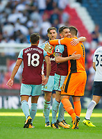 Burnley players after the Premier League match between Tottenham Hotspur and Burnley at White Hart Lane, London, England on 27 August 2017. Photo by Andrew Aleksiejczuk / PRiME Media Images.