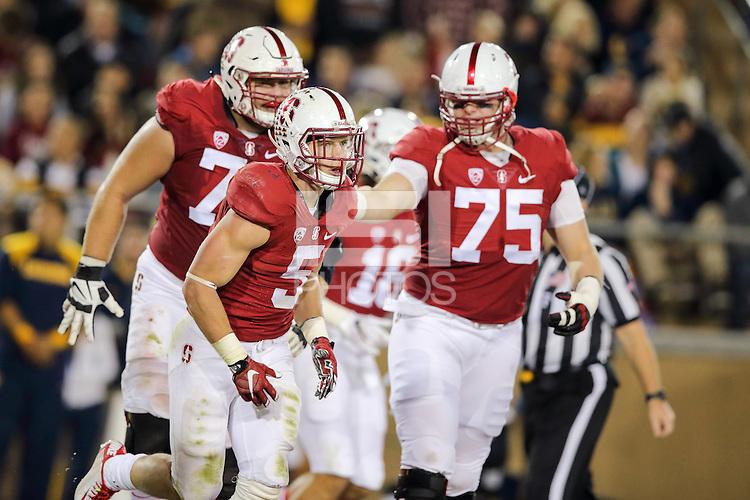 Stanford, CA -- November 21, 2015:  Stanford Cardinal vs California Golden Bears in the 118th Big Game at Stanford Stadium.  Stanford won 35-22.
