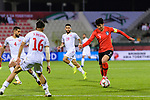 Son Heungmin of South Korea (R) in action during the AFC Asian Cup UAE 2019 Round of 16 match between South Korea (KOR) and Bahrain (BHR) at Rashid Stadium on 22 January 2019 in Dubai, United Arab Emirates. Photo by Marcio Rodrigo Machado / Power Sport Images