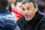 FC Barcelona's coach Luis Enrique Martinez  during the match of Copa del Rey between Atletico de  Madrid and Futbol Club Barcelona at Vicente Calderon Stadium in Madrid, Spain. February 1st 2017. (ALTERPHOTOS/Rodrigo Jimenez)