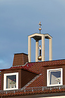 dOCUMENTA (13) in Kassel, Germany..Stephan Balkenhol's disputed installation at St. Elisabeth Catholic church.