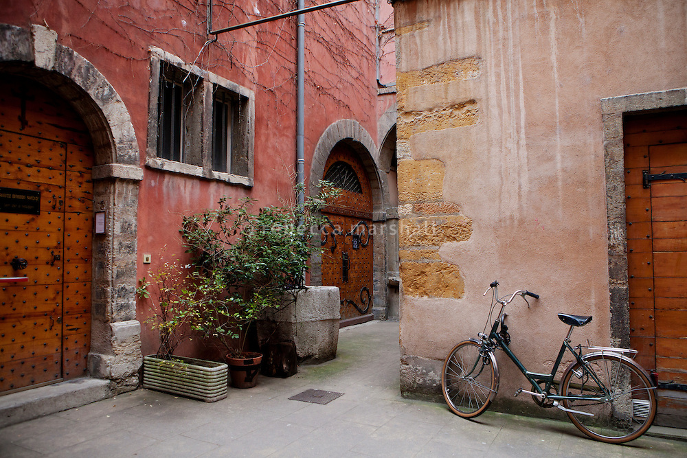 Courtyard of La Tour Rose, Vieux Lyon, France, 15 January 2012