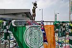 24.04.2019 Rangers scarves in amongst Celtic tributes