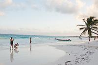 Tulum with the boys Felix and Lucas.  Tulum, Quintana Roo, Mexico