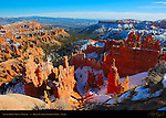 Sunset Point View in Winter, Bryce Canyon National Park, Utah