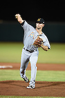Salt River Rafters pitcher Reid Redman (46) during an Arizona Fall League game against the Scottsdale Scorpions on October 8, 2014 at Scottsdale Stadium in Scottsdale, Arizona.  Salt River defeated Scottsdale 6-3.  (Mike Janes/Four Seam Images)