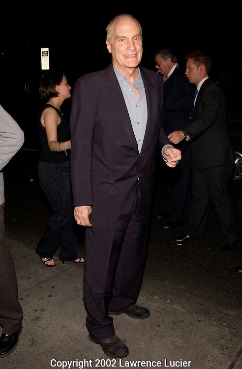 Director Barbet Schroeder departs the after party for the film premier Murder by Numbers April 16, 2002 in New York City. Actress Sandra Bullock stars in the film..