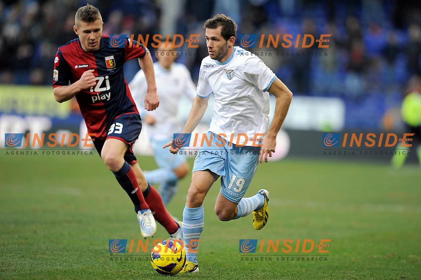Jurai Kucka Genoa, Senad Lulic Lazio .Genova 3/2/2013 Stadio Marassi.Football Calcio 2012/2013 Serie A.Genoa Vs Lazio 3-2.Foto Insidefoto