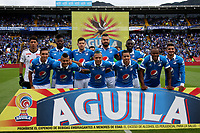 BOGOTA -COLOMBIA, 30-04-2017. Team of Millonarios .Action game between  Millonarios  and Atletico Huila during match for the date 15 of the Aguila League I 2017 played at Nemesio Camacho El Campin stadium . Photo:VizzorImage / Felipe Caicedo  / Staff