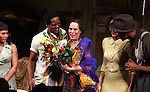 Daphne Rubin-Vega, Blair Underwood, Director Emily Mann, Nicole Ari Parker, Wood Harris.during the Broadway Opening Night Curtain Call for 'A Streetcar Named Desire' on 4/22/2012 at the Broadhurst Theatre in New York City.