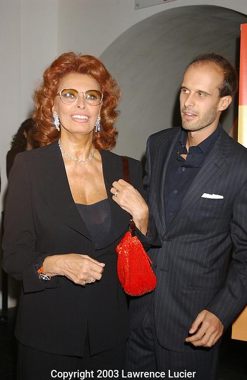 Sophia Loren and her son Edoardo Ponti