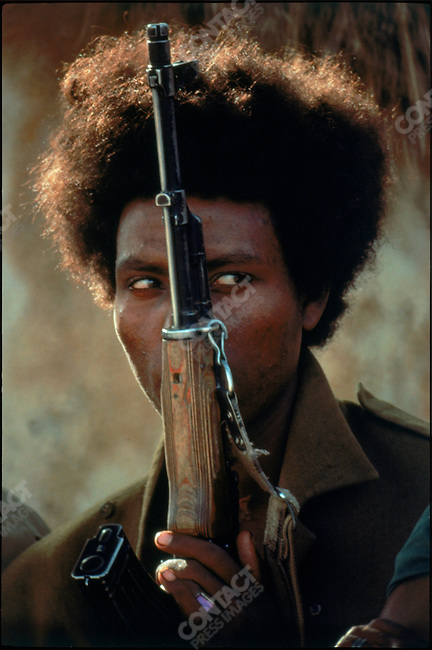 A member of the Eritrean Liberation Front fighting against Ethiopian occupation. Tessenaye, Eritrea, July 1977
