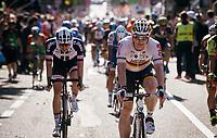 German Champion André Greipel (DEU/Lotto-Soudal) crossing the finish line<br /> <br /> 100th Giro d'Italia 2017<br /> Stage 13: Reggio Emilia › Tortona (167km)